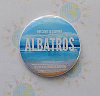 Значок с логотипом детского лагеря Альбатрос