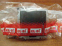 Выключатель двухклавишный с подсветкой без рамки El-Bi ZENA черный металик