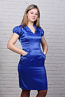 """Женское платье """"Тюльпан"""" синие"""