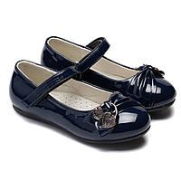 Ортопедические туфли для девочки, лак, размер 27-30