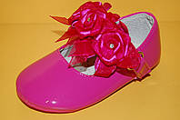 Детские нарядные туфельки-пинетки ТМ Эльффей код 218-12 размеры 19-24
