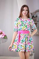 Цветастое мини платье р.44-46 Yam167_2