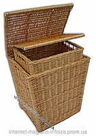 Прямоугольная корзина плетеная для белья