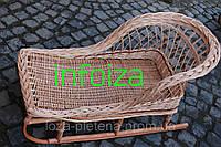 Санки плетеные из лозы