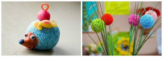 Поделки своими руками из пенопластовых шариков