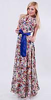Длинное летнее женское платье