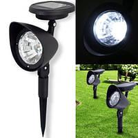 Светодиодный фонарь, светильник для подсветки ландшафта, лужайки, газона, сада на солнечной батареи
