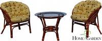 Комплект меблів на терасу. Столик + 2 крісла