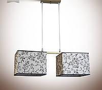 Люстра 2-х ламповая, металлическая для спальни, кухни, детской