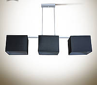Люстра 3-х ламповая, металлическая для спальни, кухни, детской
