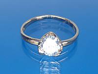 Кольцо К2 с золотым покрытием и цирконием.