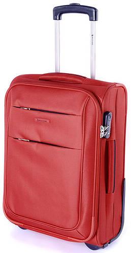 Тканевый яркий двухколесный малый чемодан 35 л. Puccini Camerino 5700/3 красный