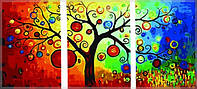Картина по номерам Триптих. Денежное дерево Babylon  (DZ3011)