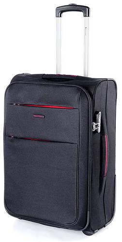 Модный тканевый малый чемодан на 2-х колесах 46 л. Puccini Camerino 5702/1 черный
