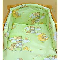 Комплект постельного белья в детскую кроватку Мишка лесенка (простынь на резинке)  хлопок ТМ Медисон Украина