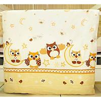 Комплект постельного белья в детскую кроватку Сова (простынь на резинке)  хлопок ТМ Медисон Украина