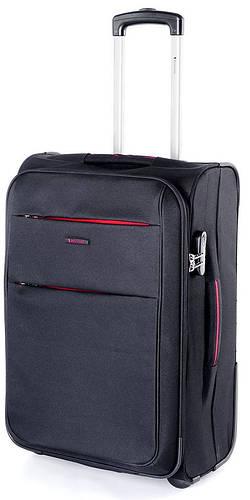 Функциональный прочный тканевый чемодан на 2-х колесах 88/95 л. Puccini Camerino 5704/1 черный