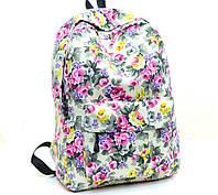 Женские городские рюкзаки с цветами. Молодежные рюкзаки. 17 литров