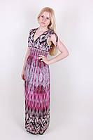 Модный сарафан женский в пол больших размеров ткань масло