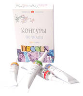Набор краски для росписи ткани, Decola, цветной , 4х18 мл