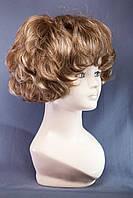 Искусственные парики пышные №1,цвет мелирование русый с белым
