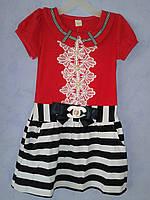 Платье трикотажное летнее для девочки