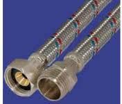 Шланги для подвода воды в нержавеющей оплетке  GROSS 1/2 20 см ГГ