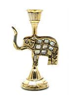 """Подсвечник бронзовый """"Слон"""" с перламутром"""