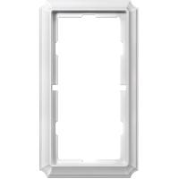 Рамка 2-постовая без перегородки ANTIQUE, белый Shneider Merten (MTN483819)