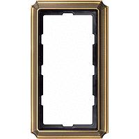 Рамка 2-постовая без перегородки ANTIQUE, антическая латунь Shneider Merten (MTN483843)