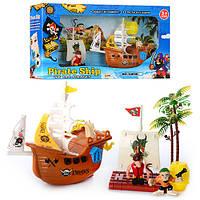 Набор пиратов с кораблем