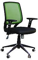 Кресло компьютерное Онлайн Алюм сиденье Сетка черная/спинка Сетка салатовая