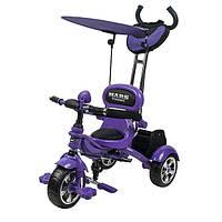 Велосипед трехколесный Mars Trike на надувных колесах Фиолетовый KR01 air фіолетовий