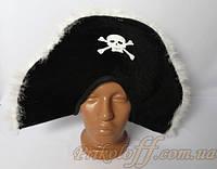 """Шляпа """"Пиратская"""", белый пух"""