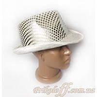 Шляпа с полями, белые пайетки