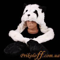 "Шапка-маска ""Панда"", с ушами-варежками"