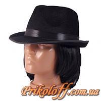 Шляпа гангстера, бархат с небольшими полями