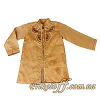 Детская восточная золотая рубаха с вышывкой,  110-130 см. (был в прокате)
