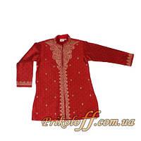 Детская восточная красная рубаха с вышывкой,  100-110 см.(был в прокате)