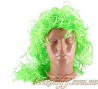 """Парик """"Длинные вьющиеся салатовые волосы"""""""