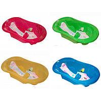 Детская ванночка для купания Tega Komfort 102 с термометром и сливом анатомическая TG-011 (6 цветов)