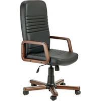 Кресло для руководителя Чинция Вуд (орех) Неаполь N-20