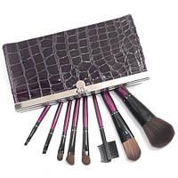 Набор кистей для макияжа в кошельке 8 (Фиолетовый)