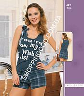 Женская пижама, домашний костюм майка и шорты Maranda 442