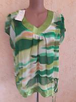 Женская блуза из шифона для полных , большой размер