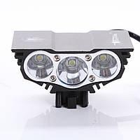 2 в 1 светодиодный фонарь для велосипеда и походов 6000 ЛМ (велофонарь, велофара)