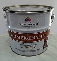 Эмаль «Грунт-эмаль»  антикоррозионная 3 в 1 Primer – Enamel Premium «Днепр- Контакт» 2,8 кг