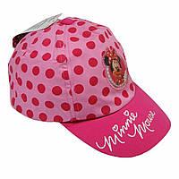 """Розовая кепка для девочки  Disney """"Минни Маус""""; 54 см."""