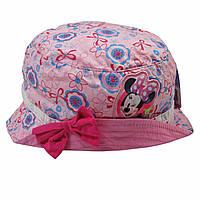 Красивая розовая панама для девочки Минни Маус фирмы Disney; 50 см.