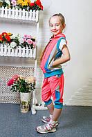 Детский летний спортивный костюм Актив  для девочки  оптом и в розницу